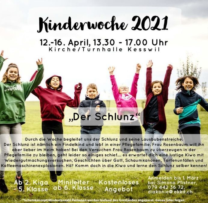Kinderwoche (12. bis 16. April 2021)